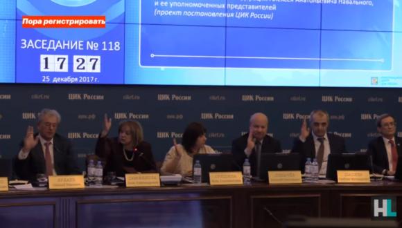 """""""Nie lubię Centralnej Komisji Wyborczej"""" – wystąpienie Nawalnego na posiedzeniu CKW w sprawie rejestracji jego kandydatury w wyborach prezydenckich"""