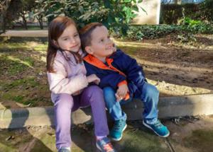 Младшие дети Юлии, Испания, декабрь 2018