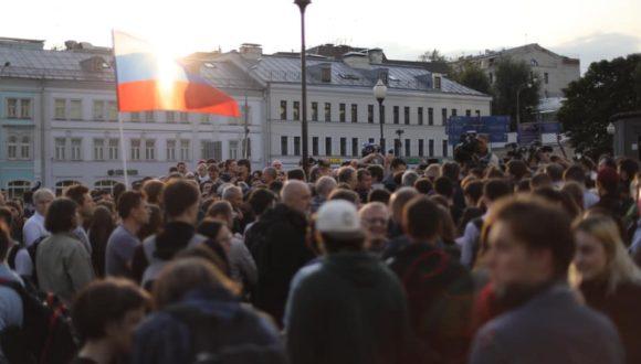 """Demonstracja """"O uczciwe wybory"""" w Moskwie"""