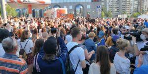 Demonstracja wspierająca Kiriłła Serebrenikowa - zdjęcie facebook.com/asya.davydova.16
