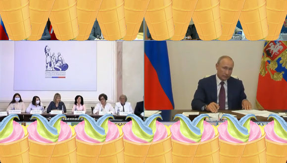 Putin i flaga tęczowa