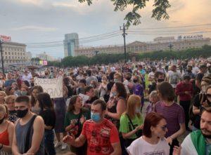 Wiec w Chabarowsku - zdjęcie sztab Nawalnego