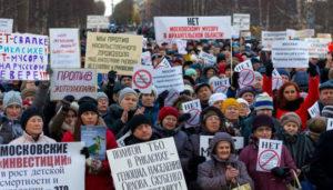 Protest ekologiczny w Siewierodwińsku - zdjęcie ecamir.ru