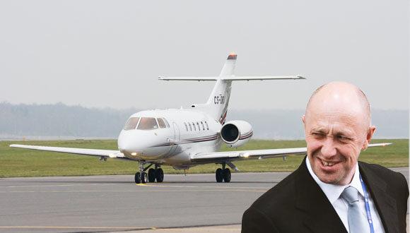 Prigozhin's plane in Berlin