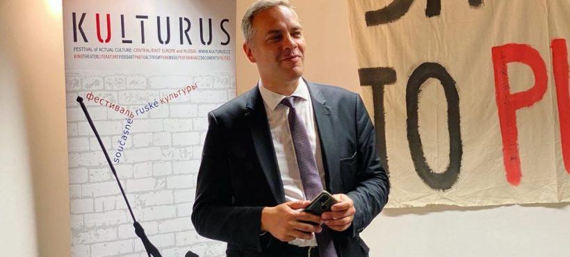Spotkanie Władimira Miłowa z rosyjską diasporą w Pradze